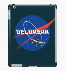 Back to the Future - DeLorean + Nasa Logo iPad Case/Skin