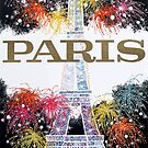 Paris Eiffel Tower Travel Poster by mindydidit