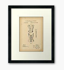 1879 Patent Corset Framed Print