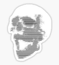 ASCII Skull Sticker