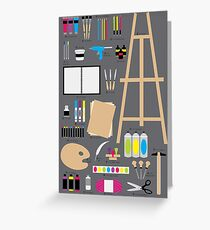 Art Materials Alphabet Greeting Card