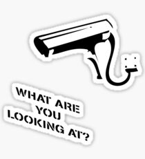 Banksy Inspired CCTV Print What are you looking at Sticker