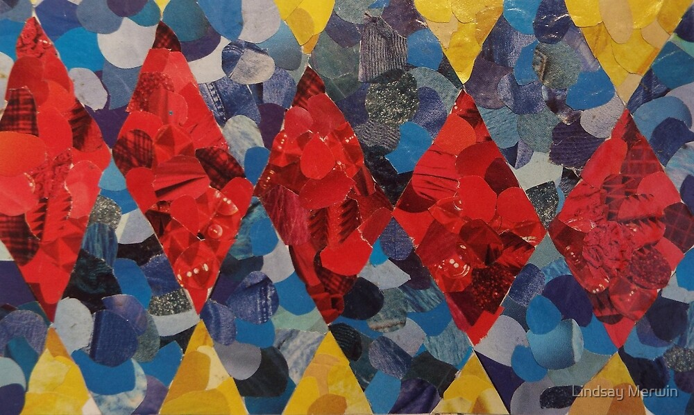 Primary Colors Magazine Collage by Lindsay Merwin