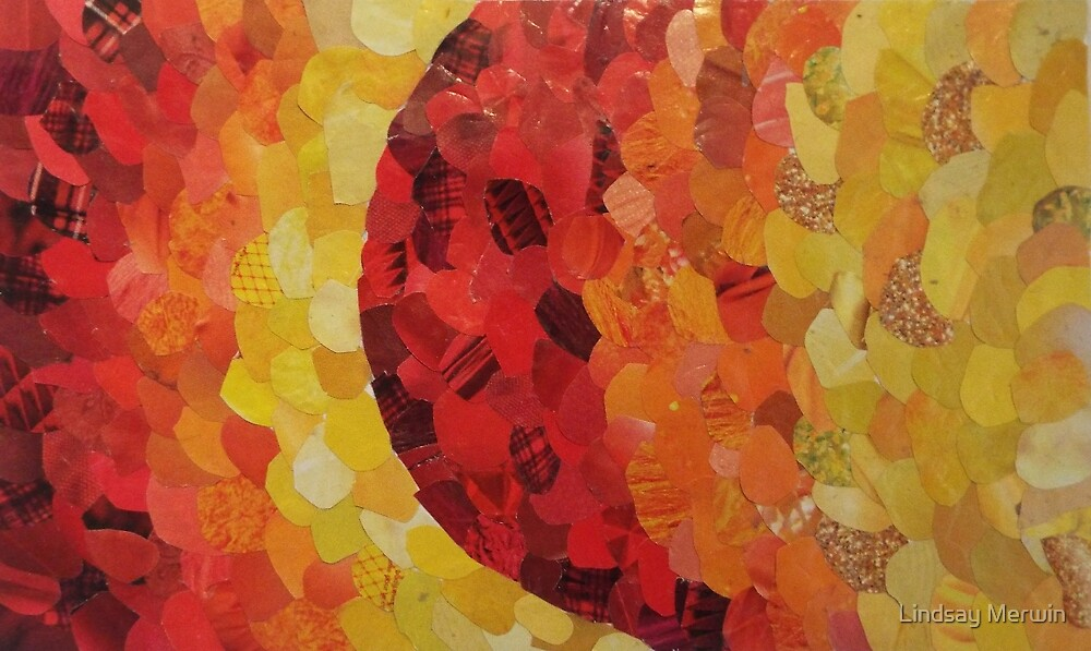 Red/Yellow Gradient Magazine Collage by Lindsay Merwin