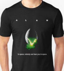 "Funny Wrong Alien ""Alan"" Shirt - No One Can Hear You In Space Unisex T-Shirt"
