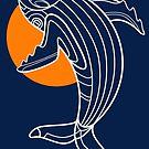 Deco Whale by qetza