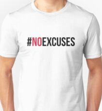 Keine Ausreden Fitnessstudio Zitat Slim Fit T-Shirt