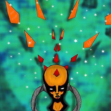Psychedelic Crystal Head by Wjcurfman