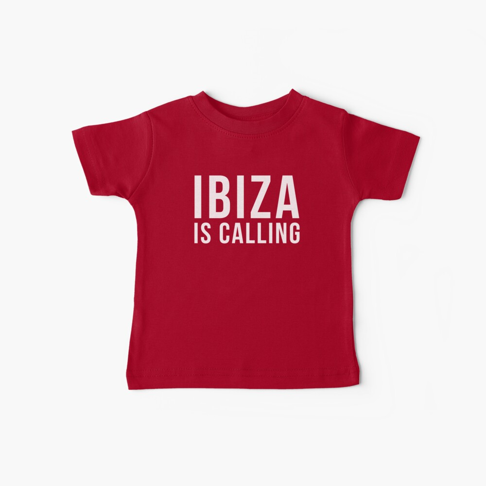 Ibiza Is Calling 2 Music Quote Baby T-Shirt