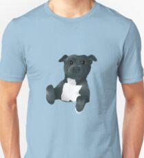 Happy Pit Bull Puppy Dog Unisex T-Shirt