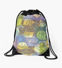 Froggy Swirl Drawstring Bag