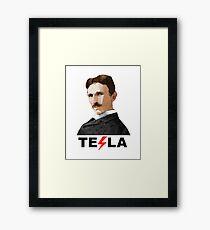 Tesla, the Inventor Framed Print