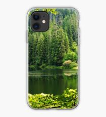 lake in pine forest iPhone Case