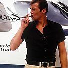 Roger Moore Smokes Cat Malojin by CatMalojin