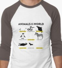 Animals of the world Men's Baseball ¾ T-Shirt