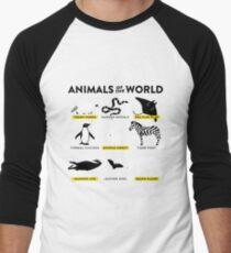 Animals of the world Men's Baseball ¾ T-Shirt