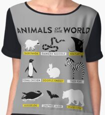 Animals of the world Chiffon Top