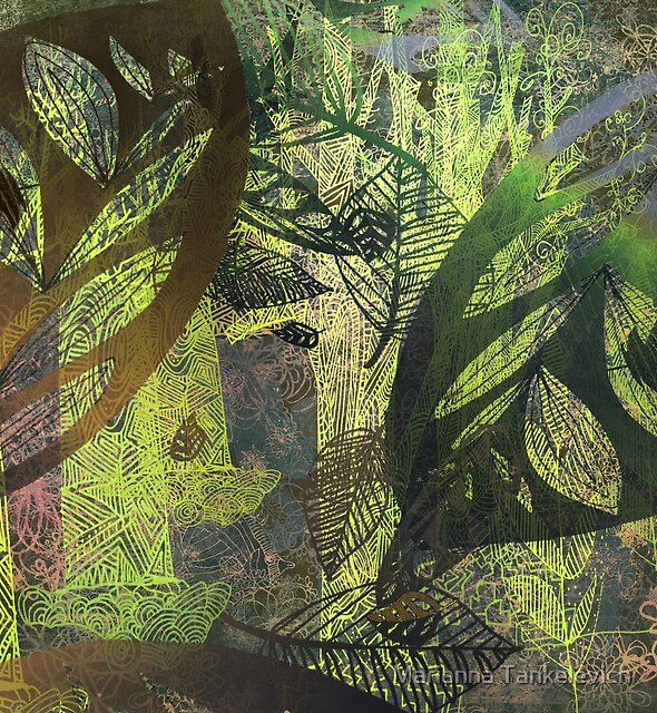 lush forest abstract by Marianna Tankelevich