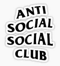 anti social social club logo  Sticker