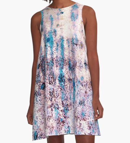 Summer Blue Rain A-Line Dress