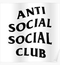 anti social social club font logo design  Poster