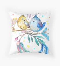 Happy Birds – (not) only for kids Throw Pillow