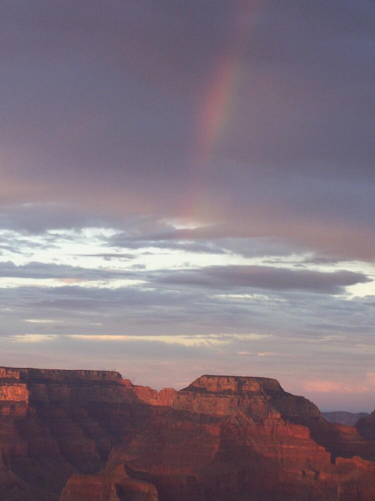 Rainbow over Grand Canyon by revdrrenee