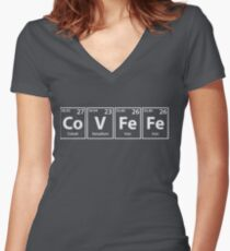 Covfefe (Co-V-Fe-Fe) Periodic Elements Spelling Women's Fitted V-Neck T-Shirt