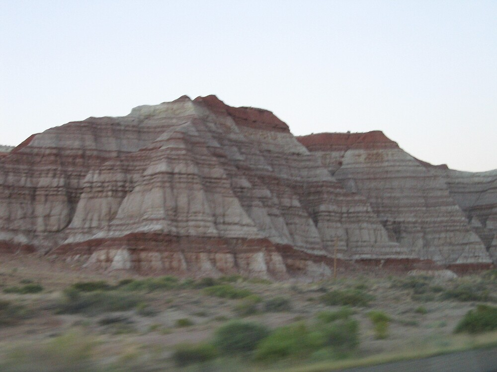 More painted desert from the highway by revdrrenee