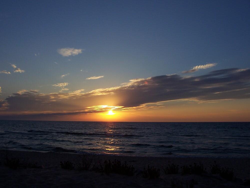 progression of the Michigan Sunset by revdrrenee