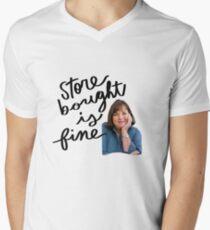Ina Garten T-Shirt mit V-Ausschnitt