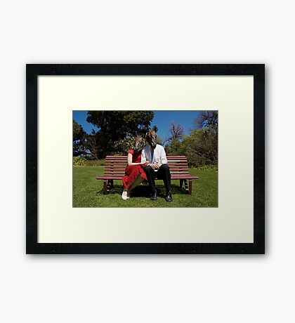 in happier times Framed Print