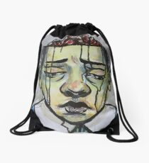 Zombie Boy Drawstring Bag