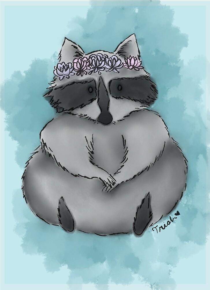 Raccoon Queen by katamation
