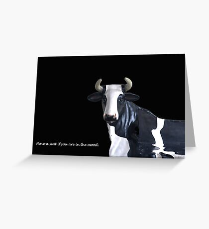 COW BENCH (CARD) Greeting Card