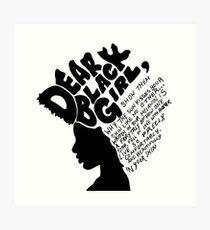 Dear Black Girl Art Print
