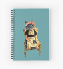 Dutch Kitty With Bird Spiral Notebook