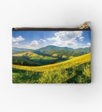 agricultural fields in mountains Studio Pouch