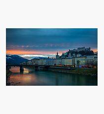 Sunrise in Salzburg Photographic Print