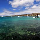 San Cristobal Bay by Sue  Cullumber