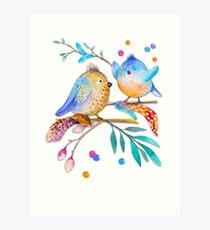 Happy Birds II - (nicht) nur für Kinder Kunstdruck