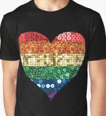 lgbt rainbow heart Graphic T-Shirt