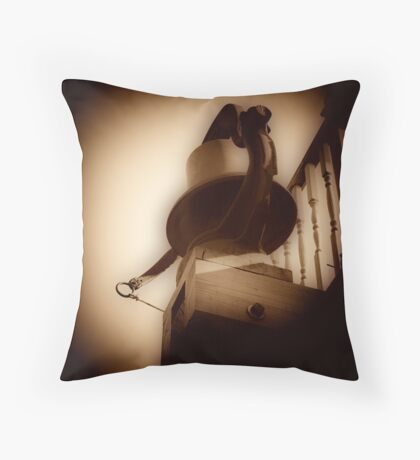 old bell Throw Pillow