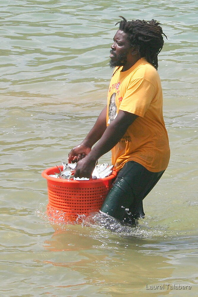 Hauling in Fish in Tobago by Laurel Talabere