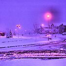 Christmas Morning in Purple by Jawaher