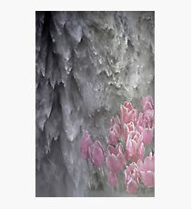 Abstract Nature Waterfall Tulips Design Photographic Print