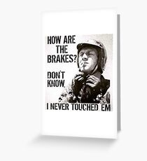 Tough biker Greeting Card
