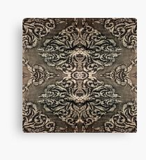 renaissance steampunk southwestern copper ornate tribal pattern Canvas Print