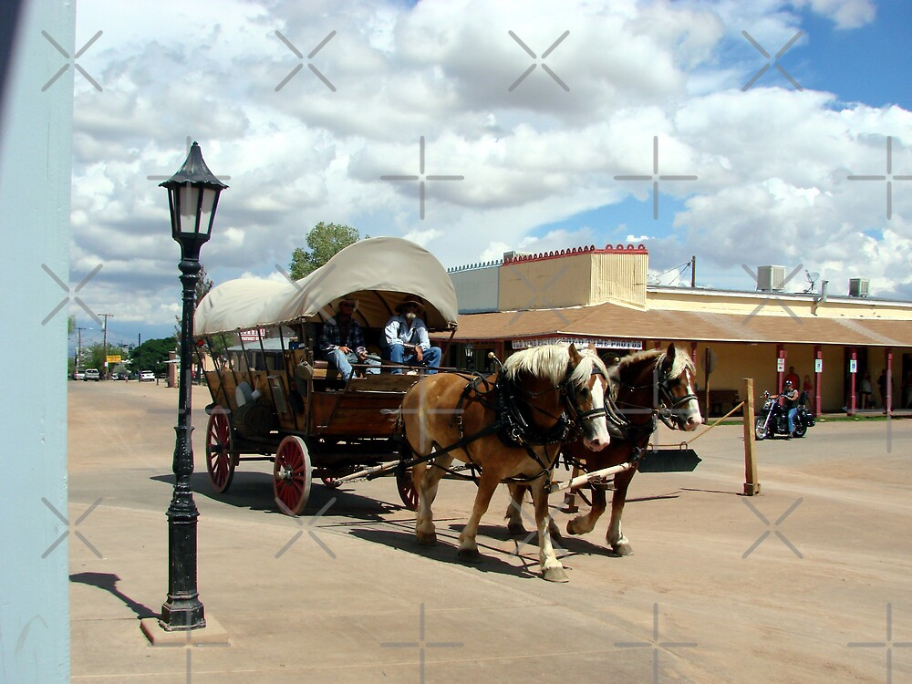 Tombstone covered wagon 2 by Kimberly Miller