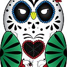 Sugar Skull Owl by sebi01